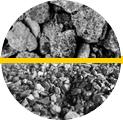 rocha e minério